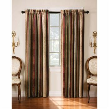 Arlee Home Fashions Tuscan Stripe Jacquard Blackout Panel Pair