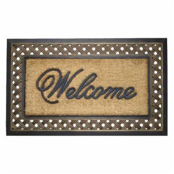 First Impression Large Outdoor Brush Door Mat