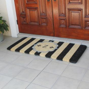 First Impression Haywood Monogrammed Entryway Double Outdoor Door Mat