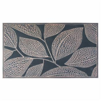 A1 Home Collections Leaf Design Rubber Pin Mat