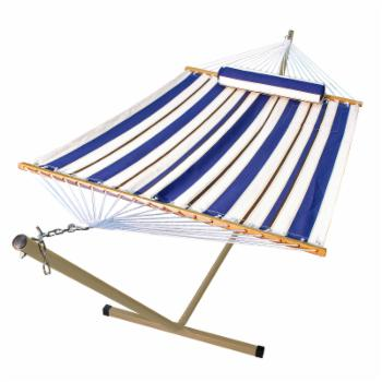 Algoma Fabric Hammock with Stand and Pillow
