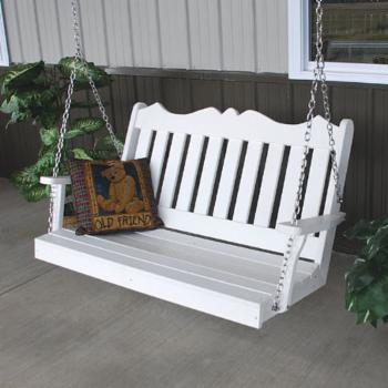 A & L Furniture Royal English Recycled Plastic 4 ft. Porch Swing
