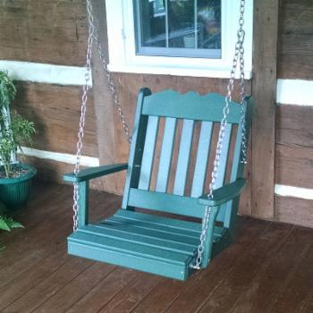 A & L Furniture Royal English Poly Recycled Plastic 2 ft. Swing Chair