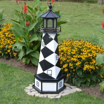 A and L Furniture Lighthouse Replica Garden Statue with Base