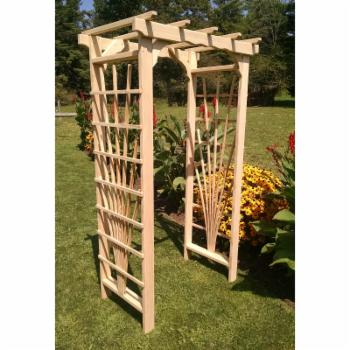 A & L Furniture Concord 7 ft. Wood Arbor