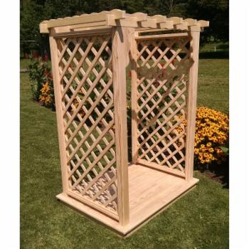 A & L Furniture Covington 7.25 ft.High Wood Arbor with Deck