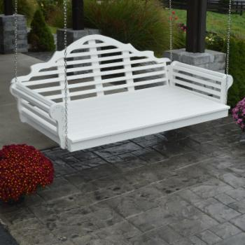 HN Outdoor Gwynn Recycled Plastic Outdoor Swing Bed