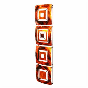 Heather Ann Creations 4 Geometric Squares Panels Metal Hanging Wall Art