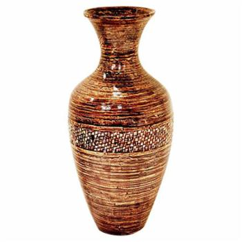 Heather Ann Creations Water Jug Shaped Bamboo Spun Decorative Accent Vase