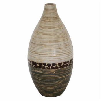 Heather Ann Classic Bamboo Oil Vase with Tile Band