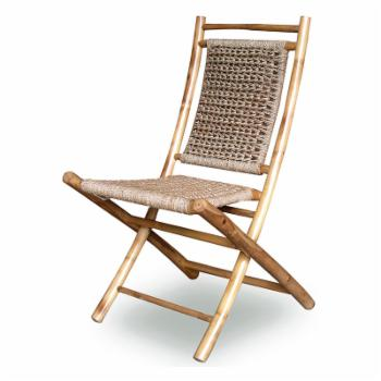 Heather Ann Creations Lanikai Bamboo Folding Patio Side Chair - Set of 2