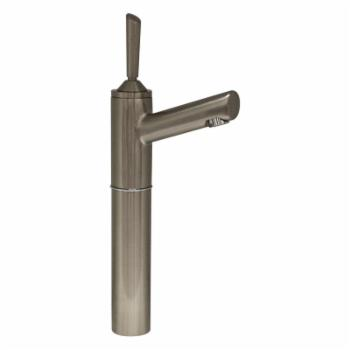 Whitehaus 3-3345-BN Centurion Single Hole Stick Handle Elevated Lavatory Faucet with 7 in. Extension and Short Spout - Brushed Nickel