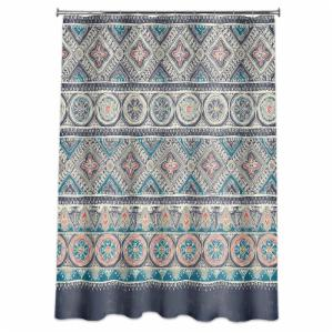 Mainstays Global Tile Medallion Shower Curtain