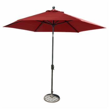 Hanover Traditions 9 Ft. Aluminum Crank Lever Patio Umbrella