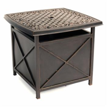 Hanover Traditions Cast-top Side Table and Umbrella Stand