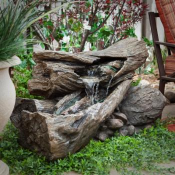 Alpine Teton Waterfall Outdoor Fountain