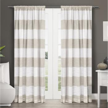 Exclusive Home Darma Rod Pocket Curtain Panel Pair
