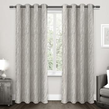 Exclusive Home Forest Hill Woven Room Darkening Grommet Curtain Panel Pair