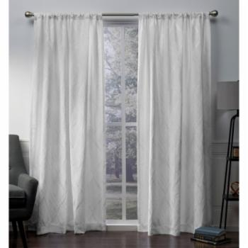 Exclusive Home Elena Wave Chenille Rod Pocket Curtain Panel Pair