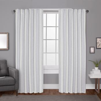 Exclusive Home Zeus Textured Jacquard Blackout Hidden Tab Curtain Panel Pair