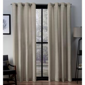 Exclusive Home Virenze Faux Silk Window Curtain Panel Pair