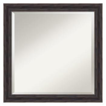 Amanti Art Square Rustic Pine Wall Mirror - 23W x 23H in.