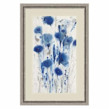 Amani Art Blue Impressions I (Floral) by Tim O'Toole