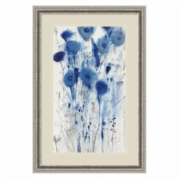 Amani Art Blue Impressions II (Floral) by Tim O'Toole