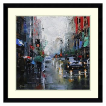 Amani Art St. Catherine Street Rain by Mark Lague