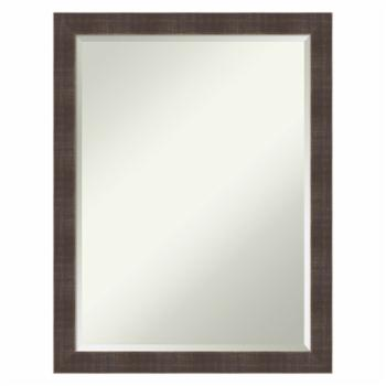 Amanti Art Whiskey Brown Rustic Wall Mirror - 21W x 27H in.