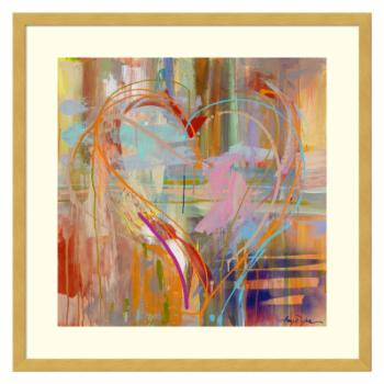 Amanti Art Framed Print - Abstract Heart by Amy Dixon