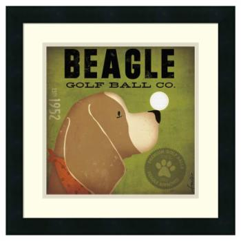 Amanti Art Framed Print - Beagle Golf Ball Co. by Stephen Fowler