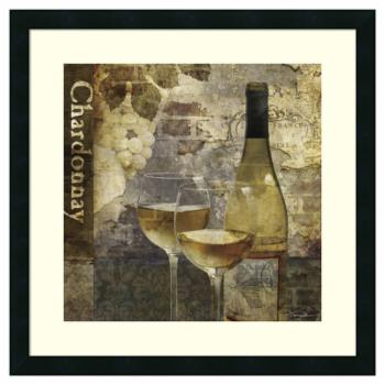 Amanti Art Framed Print - Chardonnay by Keith Mallett