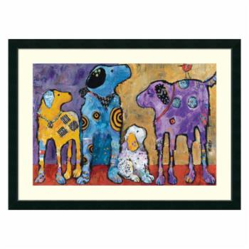 Amanti Art Framed Print - Cast of Characters Dogs by Jenny Foster