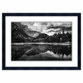 Amanti Art Framed Art Print Black and White Mountain by Dragan Jovancevic
