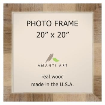 Amanti Art Natural White Wash Wall Picture Frame