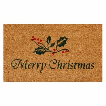 Home & More Christmas Holly Outdoor Doormat