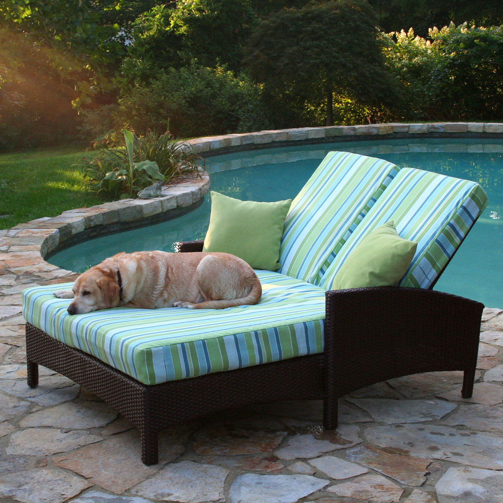 Anacara Atlantis All Weather Wicker Adjustable Double Chaise Lounge   Outdoor  Chaise Lounges At Hayneedle