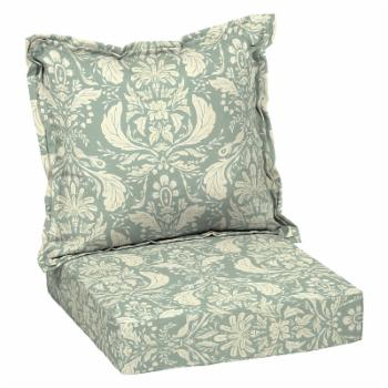 Arden Selections Pietro Damask Outdoor Deep Seat Cushion Set