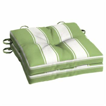 Better Homes & Gardens Green Club Stripe 15 in. Outdoor Bistro Cushion - Set of 2