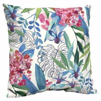 Better Homes & Gardens Painterly Tropical 21 in. Outdoor Throw Pillow