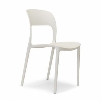 Aeon Furniture Ronnie White Stackable Chairs - Set of 4