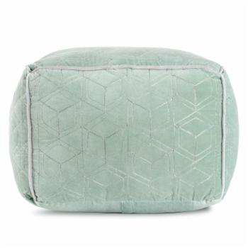 Anji Mountain Velvet Dream Mint Square Pouf