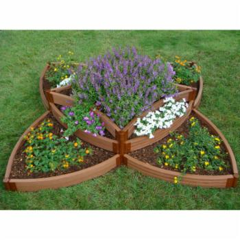 Frame It All Tool-Free Composite Versailles Sunburst Raised Garden Bed Kit - 8L x 8W x 1.4H ft.
