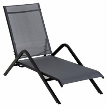 Outsunny Steel Mesh Adjustable Folding Outdoor Chaise Lounge Chair