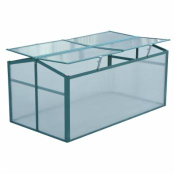 Outsunny 52 x 28 in. Aluminum Vented Cold Frame Greenhouse