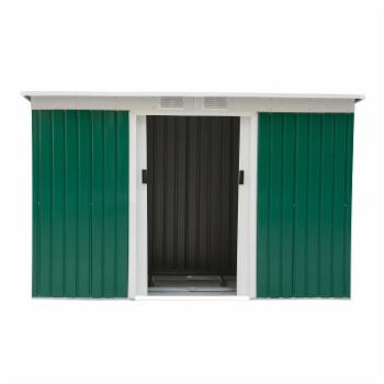 Outsunny 9 x 4 ft. Outdoor Metal Garden Storage Shed