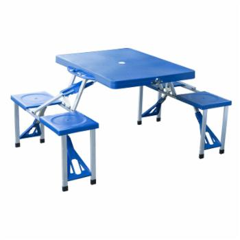 Outsunny Outdoor Portable Suitcase Folding Picnic Table