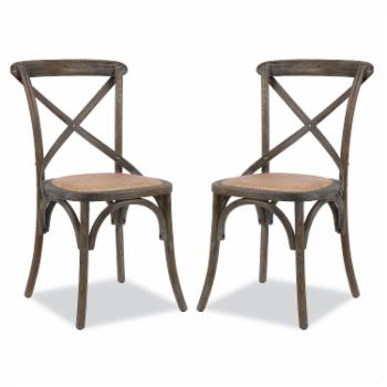 Poly & Bark Cafton Crossback Chair - Set of 2