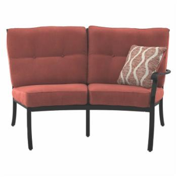 Signature Design by Ashley Burnella Curved Loveseat Patio Sectional Piece